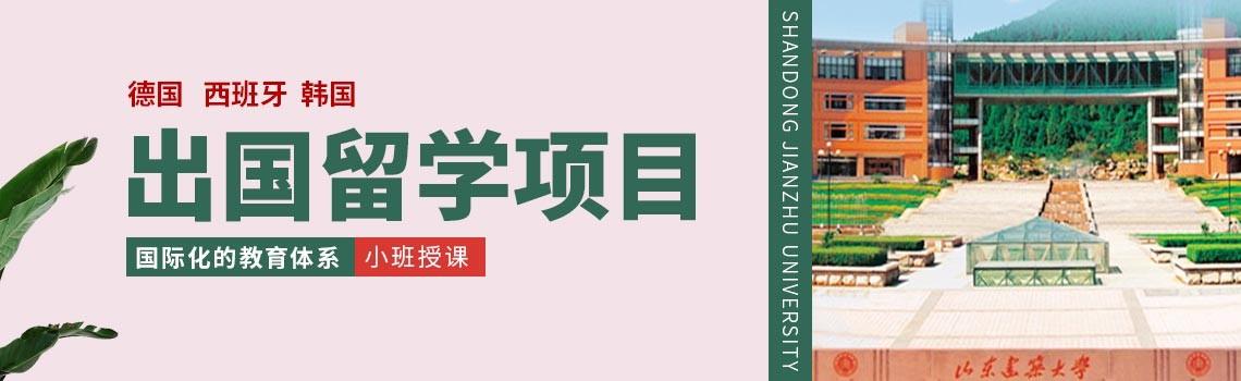 山東建筑大學德、西、韓出國留學項目